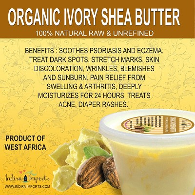 100% Organic Ivory African Shea Butter